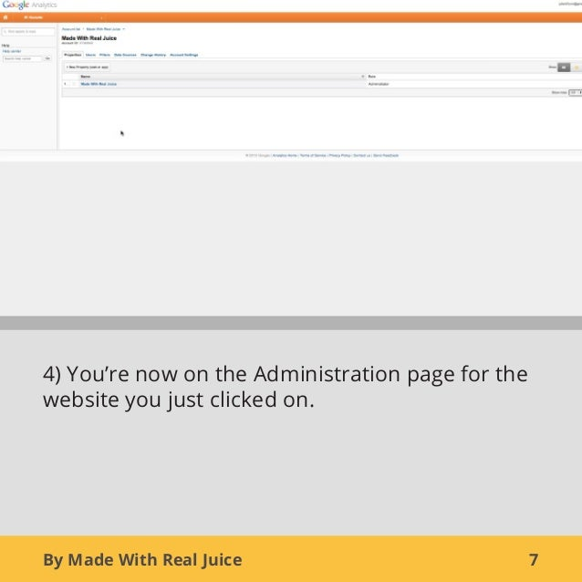 By Made With Real Juice 74) You're now on the Administration page for thewebsite you just clicked on.