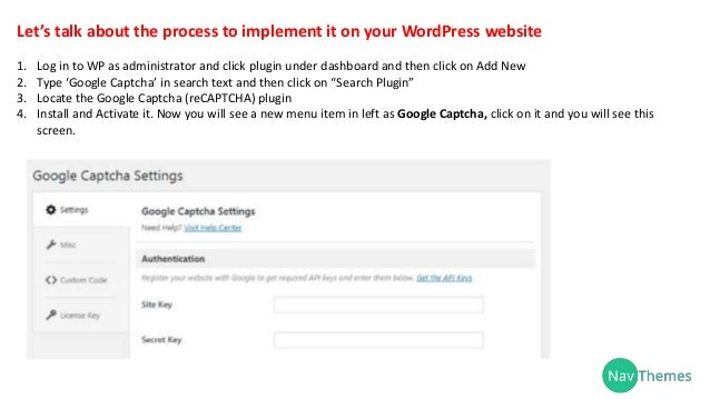 How to add a word press captcha to cut down on spam