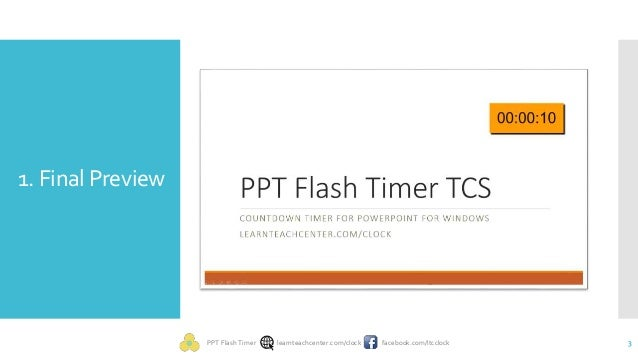 embed countdown timer in powerpoint slide, Powerpoint templates