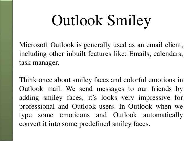 Outlook smileys 2010 email Outlook emoji
