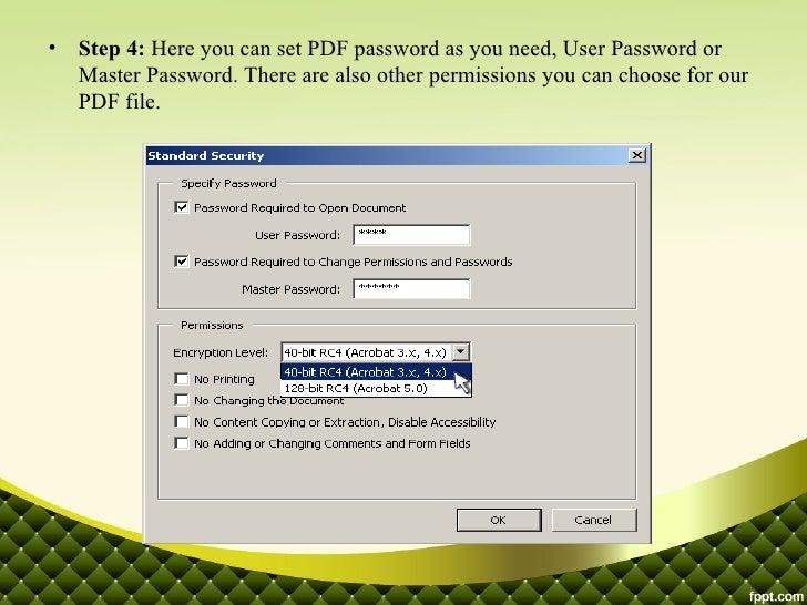 word add password to pdf