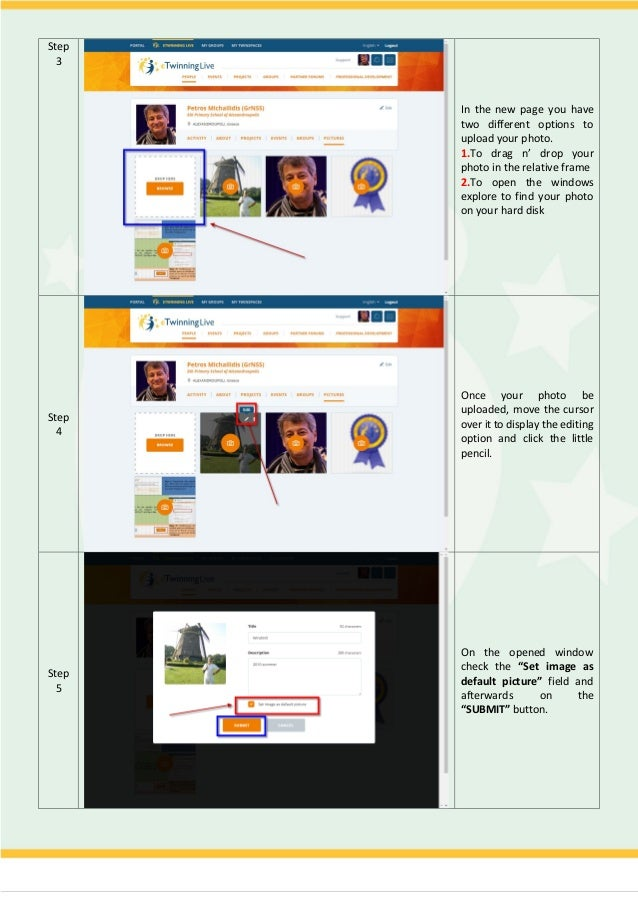 How To Addchange Your Profile Photo In Etwinning Live