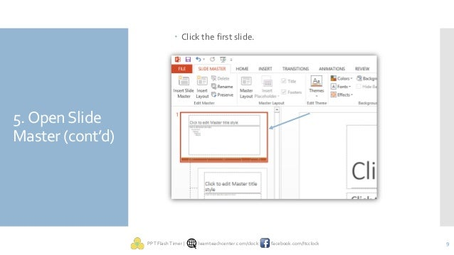 embed countdown timer in all slides in powerpoint