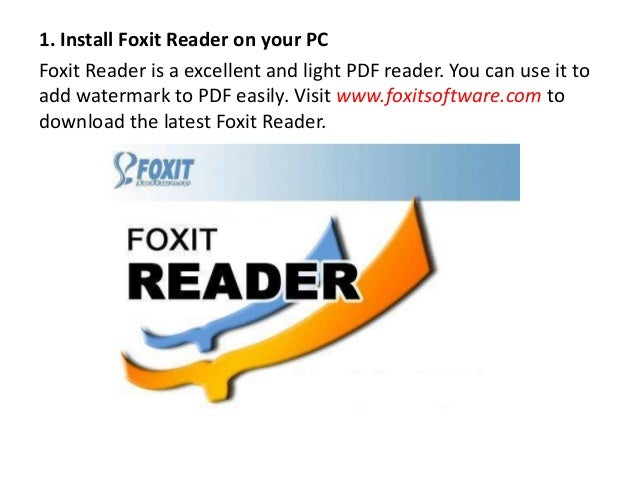 How to add watermark to pdf free