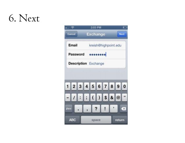 how to add university email to iphone