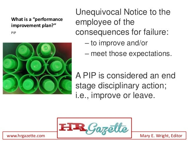 How to Administer a Performance Improvement Plan Slide 3