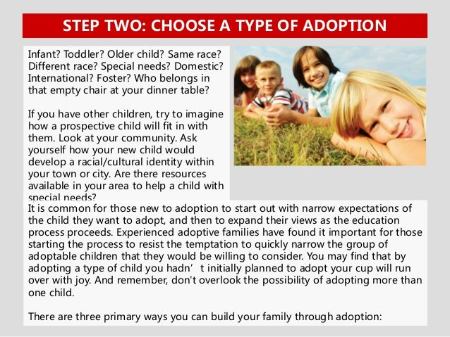 the stages of adopting a child Do you get paid to adopt your child to adoptive parents the hospital stay is one of the most emotionally complicated stages of the adoption process.