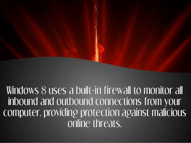 how to allow things through firewall