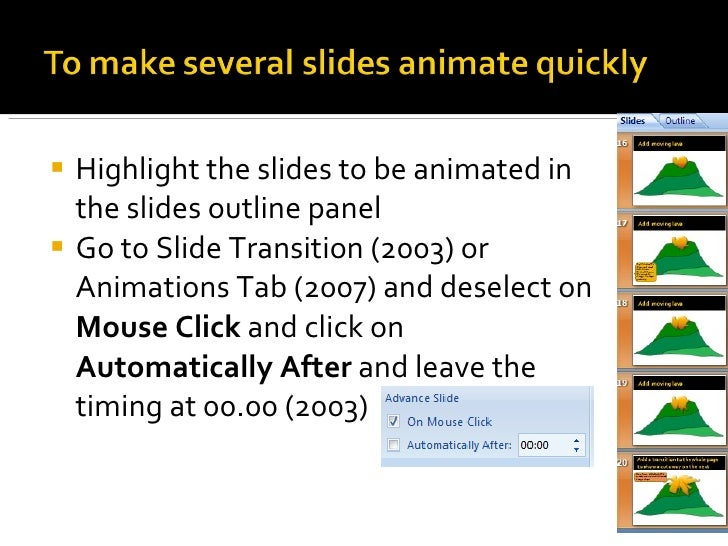 How to animate objects in power point
