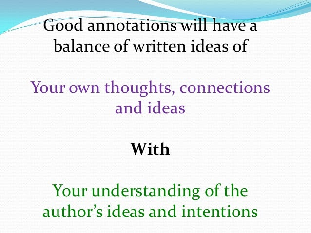 what does annotate mean in literature