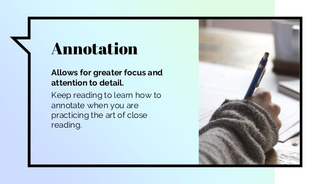 How to Annotate - Close Reading Slide 3
