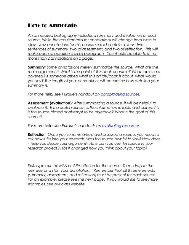 How To Annotate R Can We Paraphrase In Annotated Bibliography
