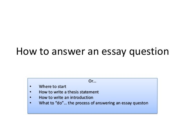 how to answer an essay question  class activity