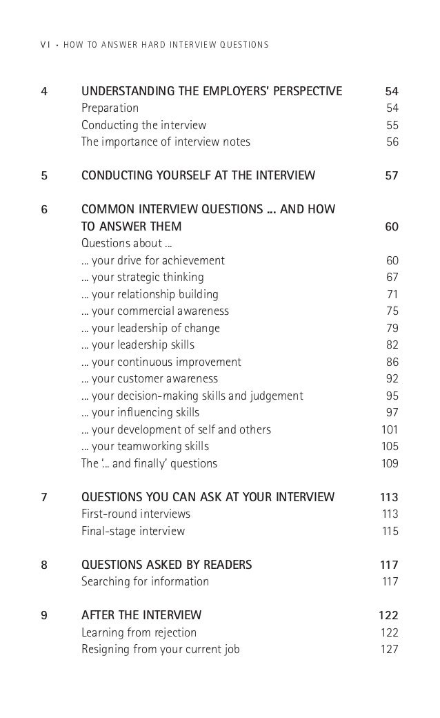 How To Answer Hard Interview Questions And Everything Else