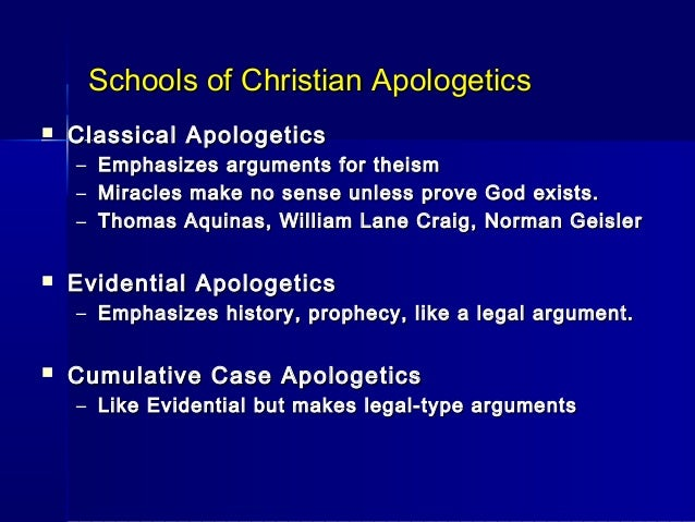 christian apologetics Christian apologetics uk a british christian site counter cult, countercult, heresies, the cults and sects, armstrongism and prosperity teaching exposures here.