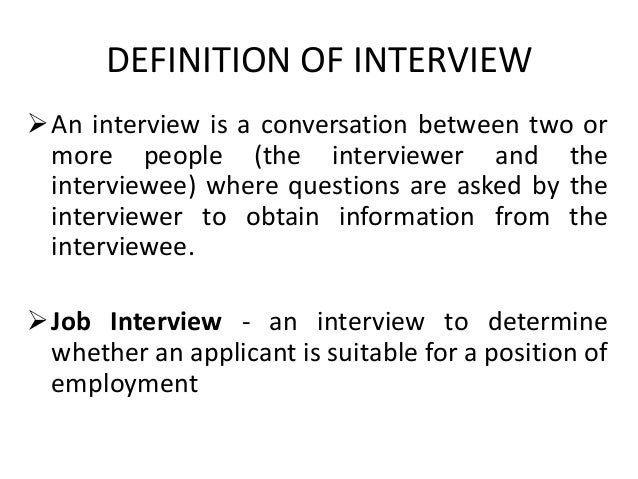interview definition and types pdf