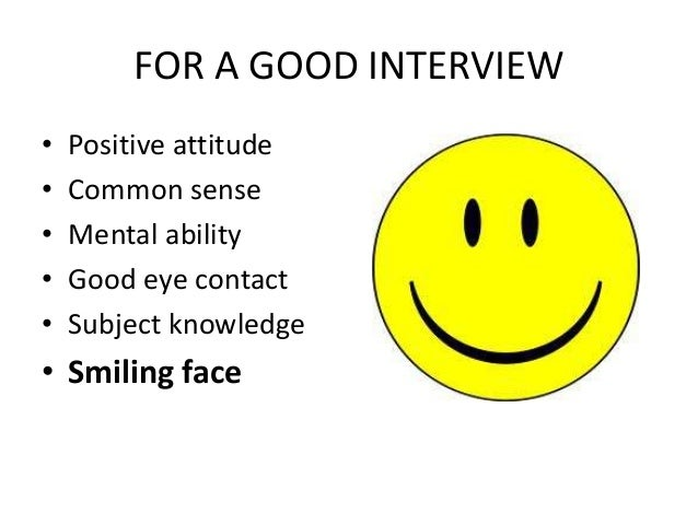 how to appear for an interview tips