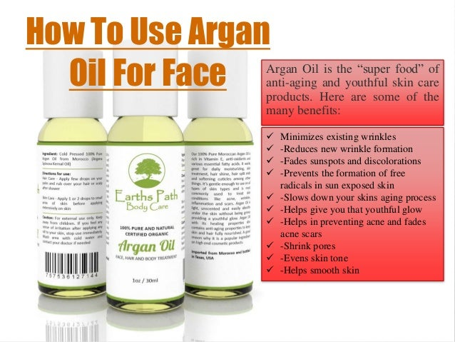 How to apply argan oil to face