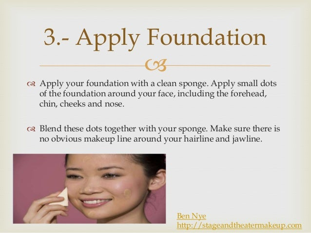 How to apply ben nye make up