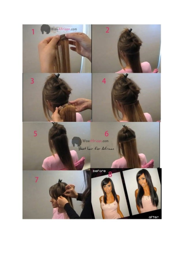 How To Apply Clip In Hair Extensionstutorial Of Clip In Hair Extensi