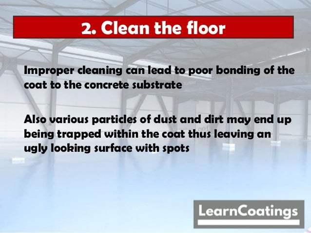 How to apply epoxy floor paint - A 7 step guide