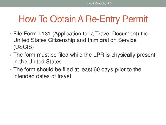 How To Apply For A Re Entry Permit