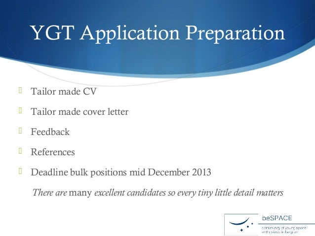 cover letter ygt