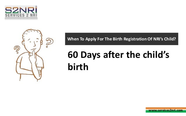How To Apply for Birth Certificate On Services2NRI?