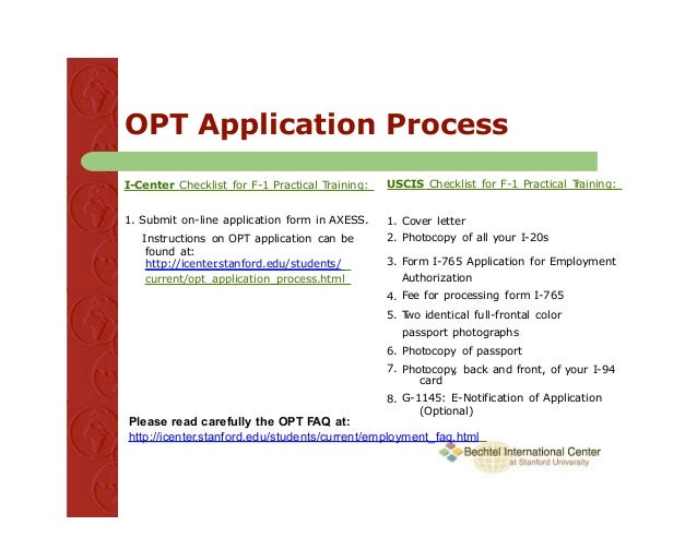 opt cover letter