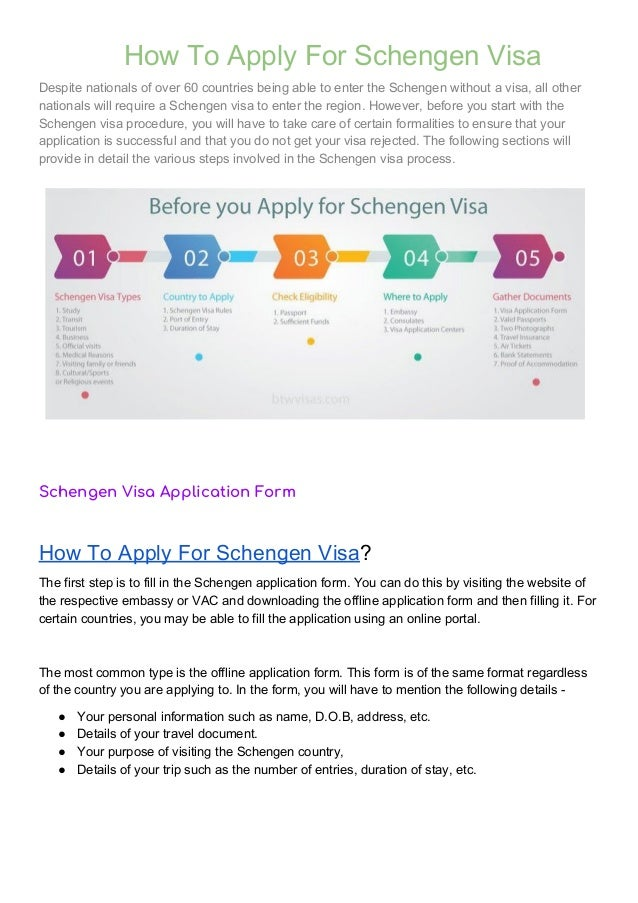 How To Apply For Schengen Visa Pdf