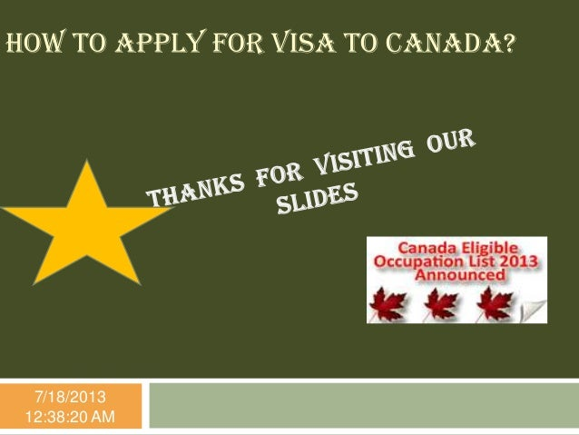 how to apply for canada work visa