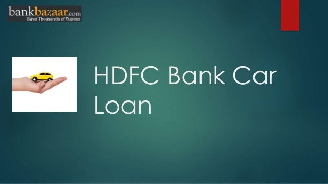 How to apply hdfc bank car loan online