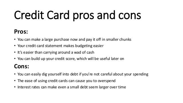 Essay about credit cards pros and cons