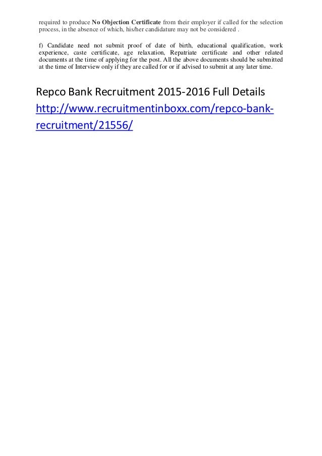 how to apply repco bank recruitment 2015