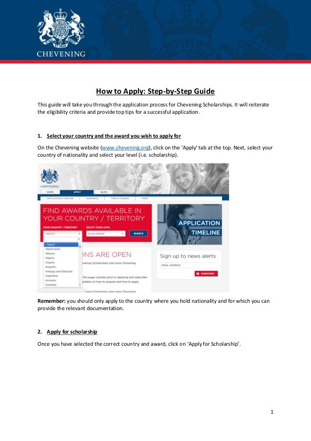 Chevening Scholarship | How to Apply: step by-step guide