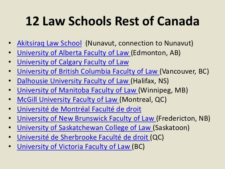 how to apply to law school in canada