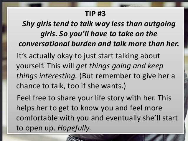 A with how shy to girl talk How to