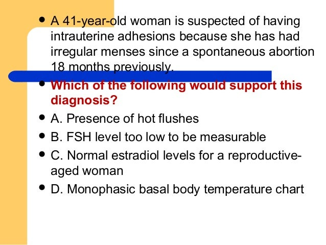 How to approch a case of amenorrhea