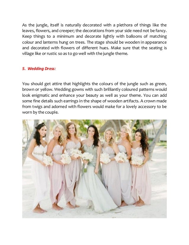 How To Arrange A Marvelous Jungle Themed Wedding