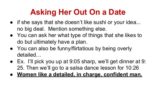 How to ask a girl out over a dating site