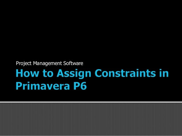 primavera p6 training manual pdf