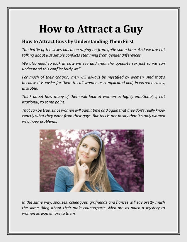 Attract a guy