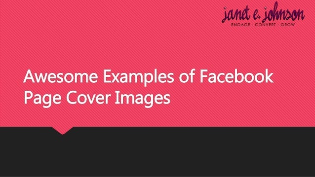 Awesome Examples of Facebook Page Cover Images