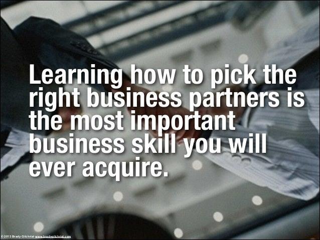 How to avoid bad business partnerships Slide 3