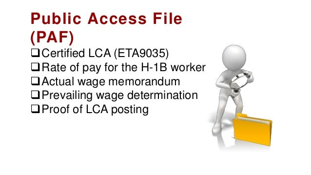 Acknowledgement of receipt of LCA by H-1B employee Summary of benefits offered to all workers List of entities included...