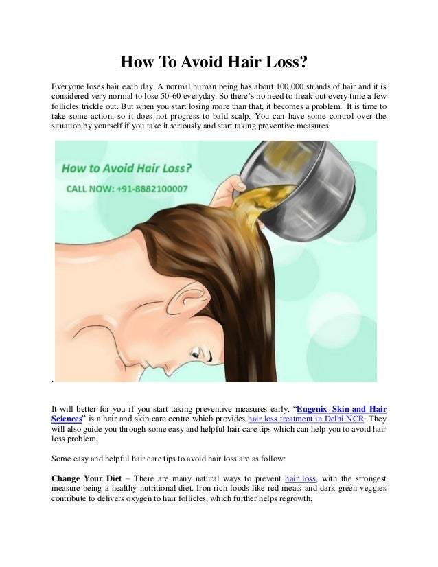 How To Avoid Hair Loss