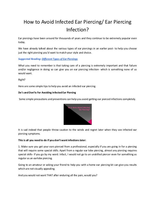 How to Avoid Infected Ear Piercing/ Ear Piercing Infection?