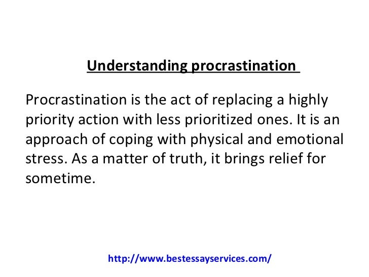 Procrastination writing essays