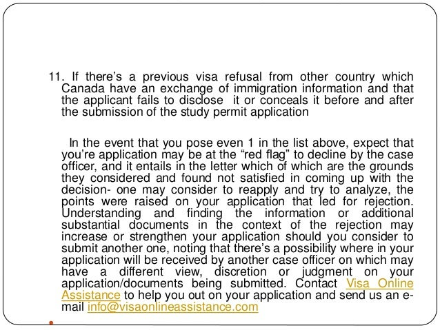 How to avoid rejection of study permit in canada employment 6 11 if theres a previous visa refusal altavistaventures Image collections