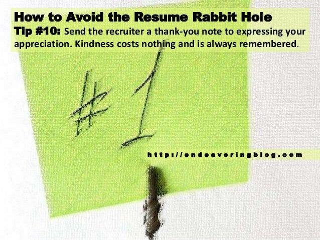 C O M; 11. How To Avoid The Resume Rabbit ...  Resume Rabbit Cost